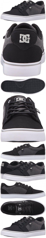 DC Men's Anvil TX SE Skate Shoe, Black/Grey/Grey, 9.5 M US