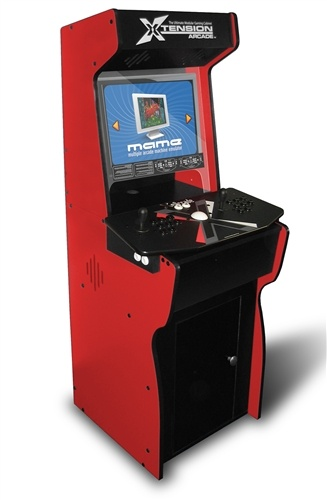 Red Xtension Arcade Cabinet For The X Arcade Tankstick I So Want This!
