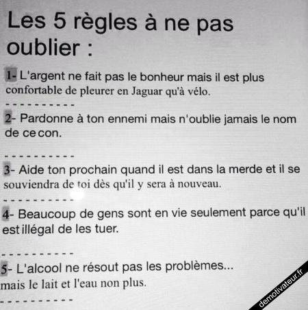 5 règles absolument peu...correctes !