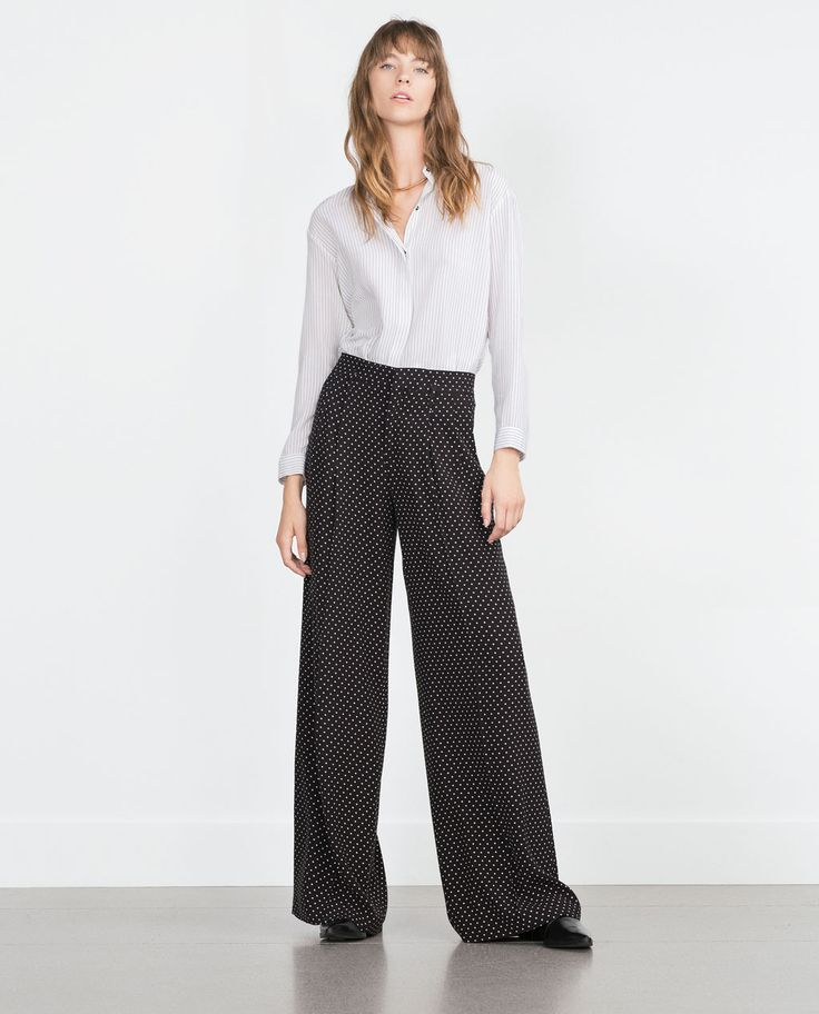 Image 1 of POLKA DOT TROUSERS from Zara