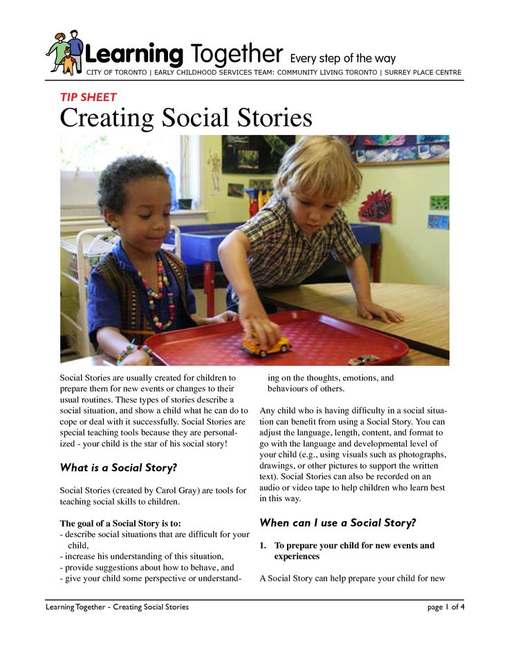 Creating social stories
