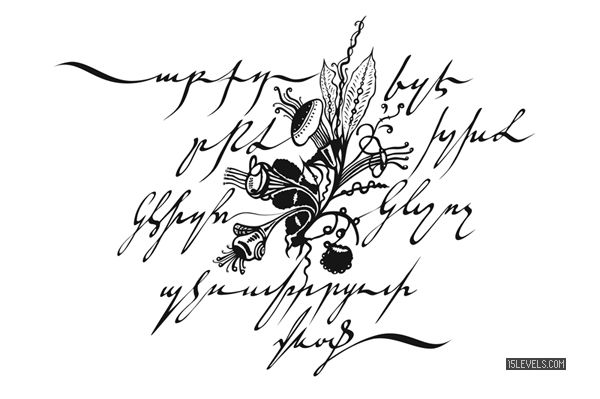 Lovely Armenian calligraphy