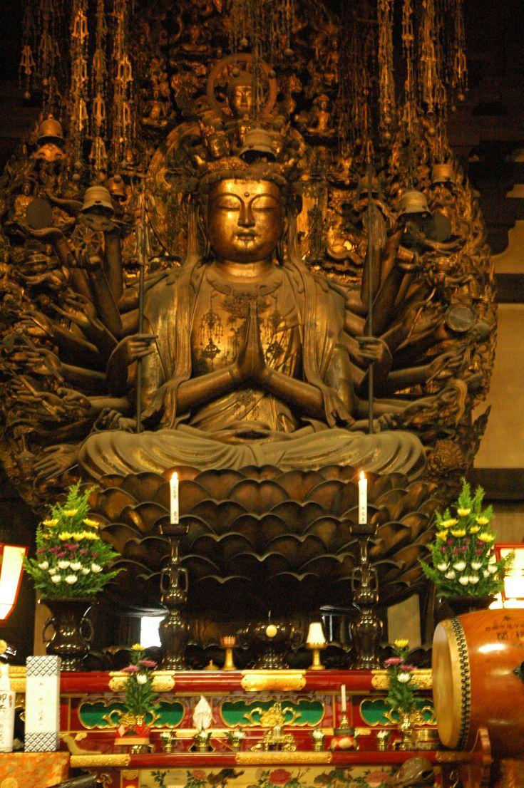 Sanjusangendo Thousand armed Kannon3 Sanjusangendo Temple in Kyoto
