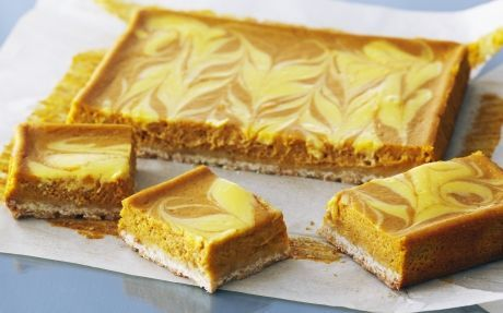 Pumpkin pureé is the secret to this rich, velvety square.