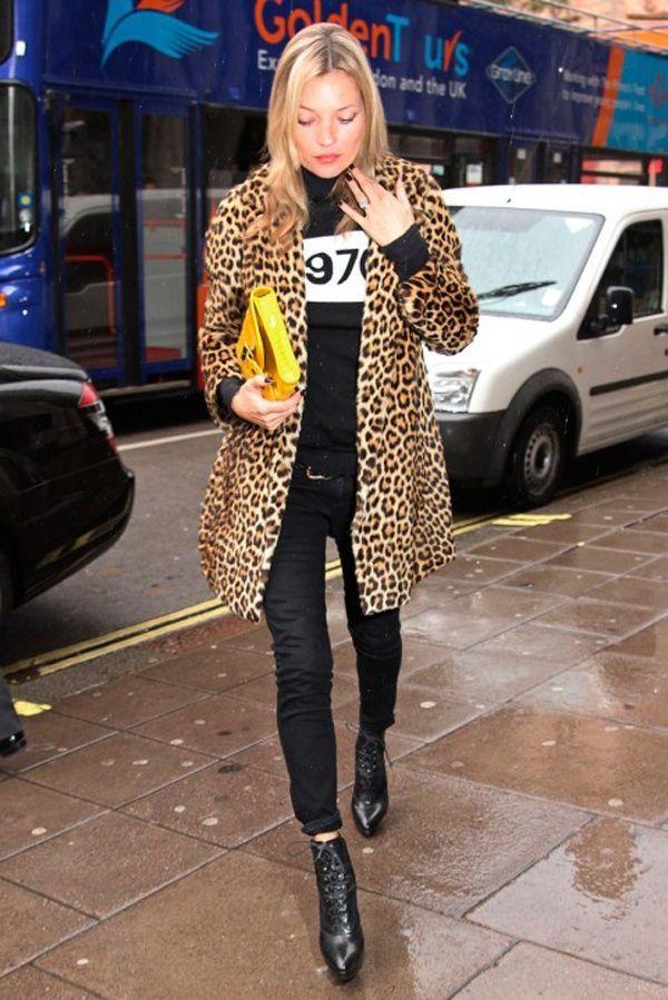 Kate Moss   Fashion   Leopard Print   Jacket   Street Style   Supermodel ✩ @thehazelvalley