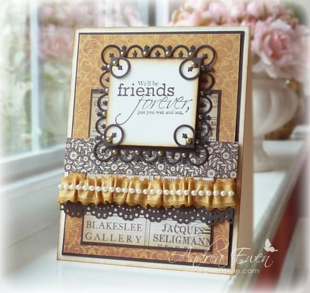 Great idea for using portions of Spellbinders!
