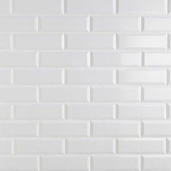 Carrelage mural plaquetas en fa ence blanc 10 x 30 cm for Carrelage en faience