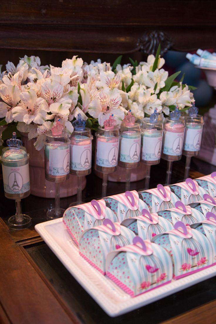 Mesa de doces tema Paris decoração festa infantil