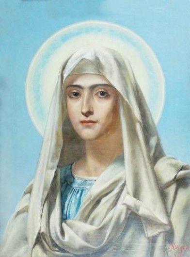 """Jan Styka- """"Matka Boska"""", 1885"""