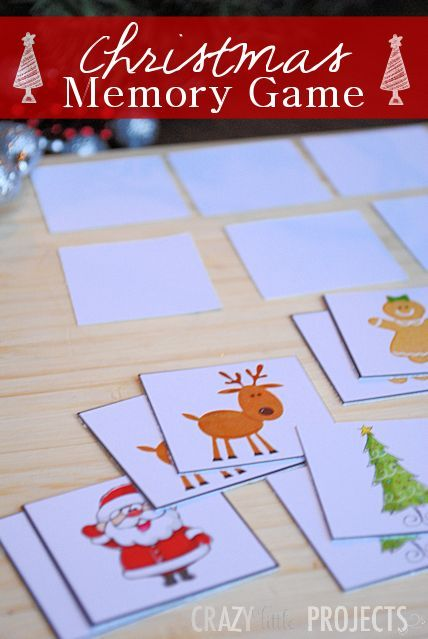 Free Printable Christmas Memory Game