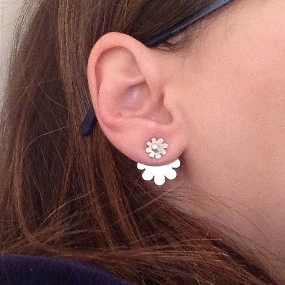 Four in one earring Silver Ear jackets & by PlusLoveStudio on Etsy - 25.95euro