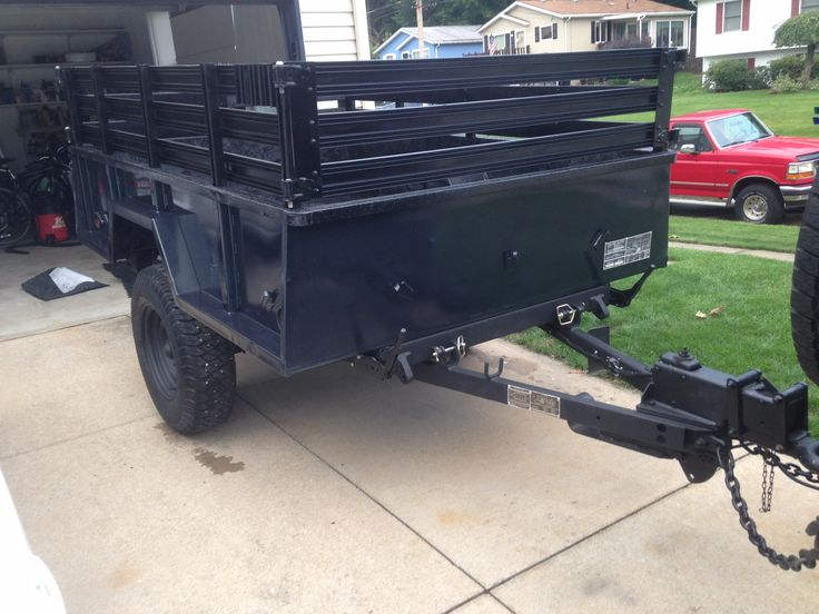 bid history for military trailer m101-a1  this trailer has been used,  the  lights are gone, along with the wiring