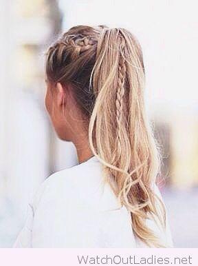 Braids in my ponytail