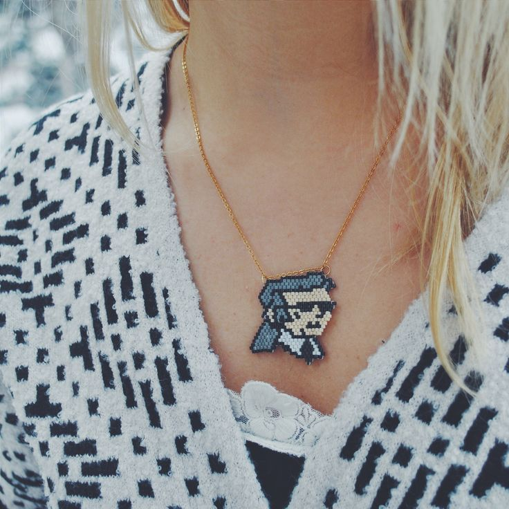 Karl Lagerfeld handmade miyuki necklace.. to more information: instagram/san_art_jewelry