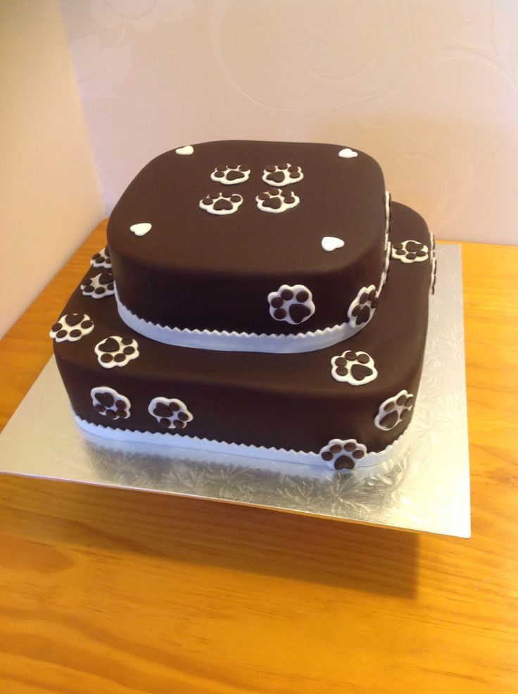 7 best Paw print cake images on Pinterest Paw print cakes