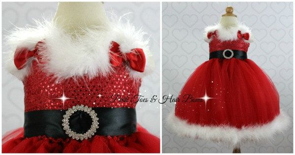 Mrs. Claus Tutu Dress Christmas tutu dress Santa by GlitterMeBaby