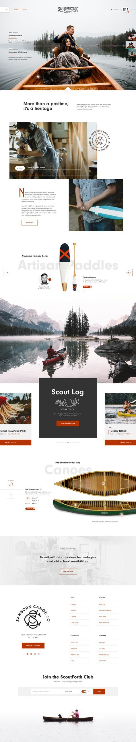 Sanborn Canoe Co. by Taylor Perrin #UI #UX