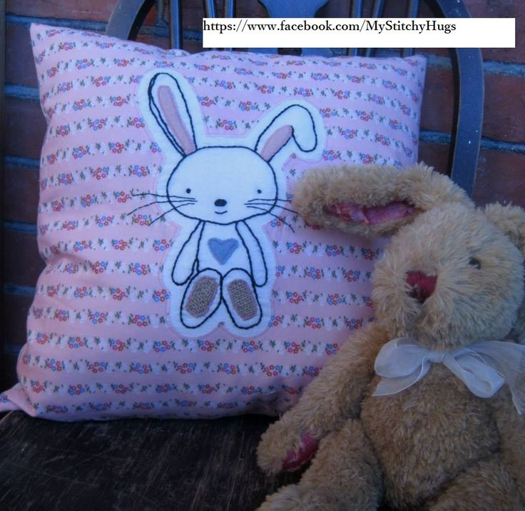 Gorgeous Vintage bunny ... stunning with vintage pink fabric. Made by https://www.facebook.com/MyStitchyHugs