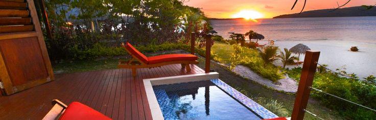 Sunsets are glorious at The Havannah, Vanuatu
