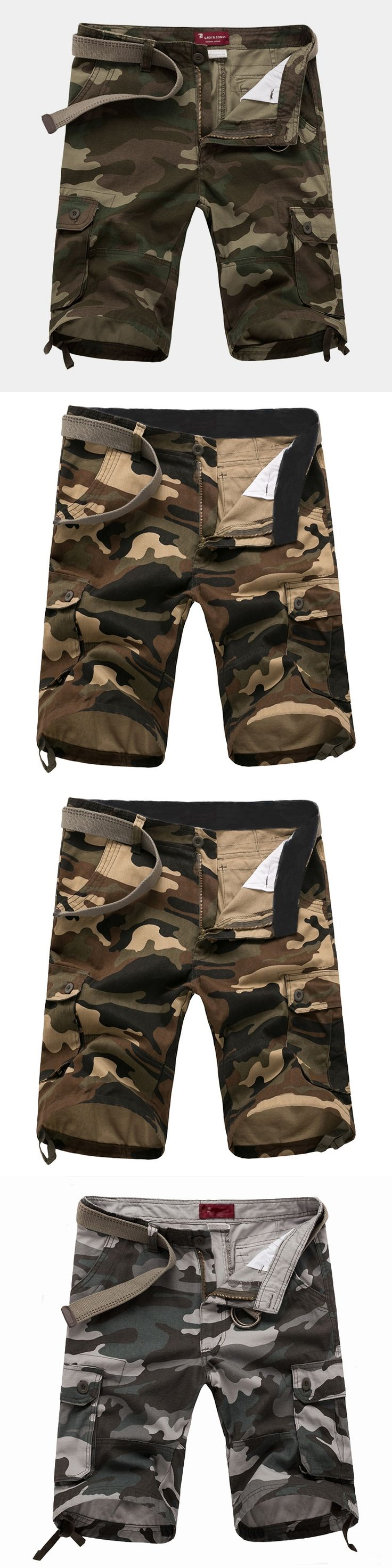 2017 Summer Camouflage Camo Cargo Shorts Mens Casual Shorts Male Loose Work Shorts Man Military Short Pants Plus Size 29-42