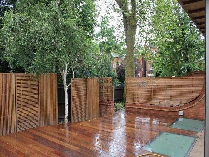 Gartenzaun Sichtschutz 100 wunderschöne Gartenmauer