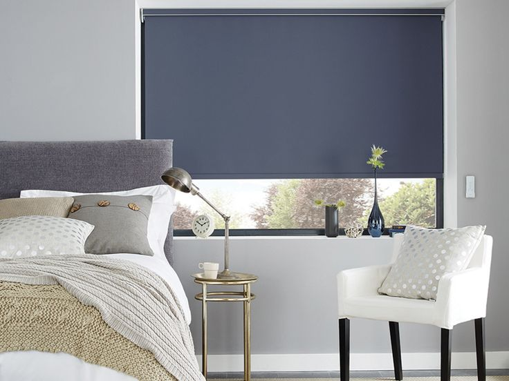 The Carnival Breton Blue Roller Blind comes as standard shade or blackout