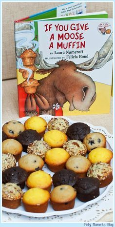 A Storybook Themed Baby Shower... If You Give a Moose a Muffin, and many other favorites, help create this gender neutral party! It includes DIY decorations, free printables, and classic children's books to go along with a variety of tasty sweets and snacks!