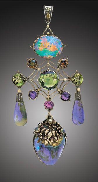 Pendant 1910: Pendants 1910, Guild Pendants, Tadema Galleries, Art Nouveau, Artnouveau, Jewelry, Jewels, Artificial Guild, Opals