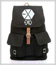 EXO EXO-M EXO-K KPOP MAMA CANVAS SCHOOL BAG BACKPACK NEW