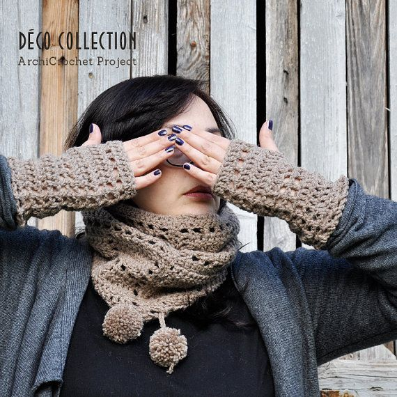 Fingerless gloves, alpaca mittens, leg warmers, lace fingerless, fingerless mittens, natural colors, deco style, handmade in Italy