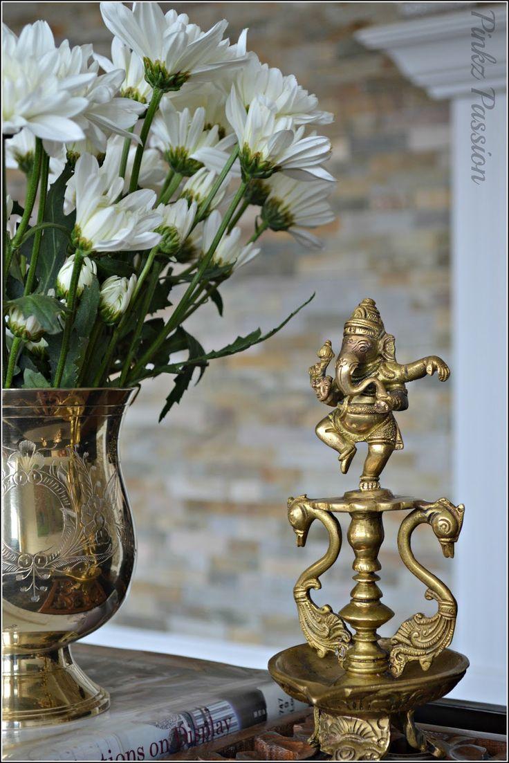 Indian home décor, brass collectibles, Ganesha