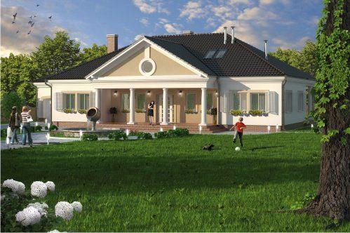 Łapanów to dom parterowy z garażem dwustanowiskowym, z poddaszem mieszkalnym, niepodpiwniczony.