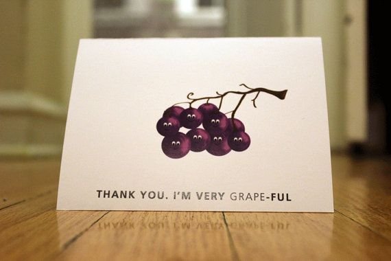 Thank You I'm Very GrapeFul by GrowChangeGreetings on Etsy, $3.00