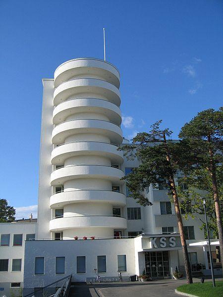 The Tilkka Military Hospital, Helsinki. Designed by architect Olavi Sorrka and built in 1930: