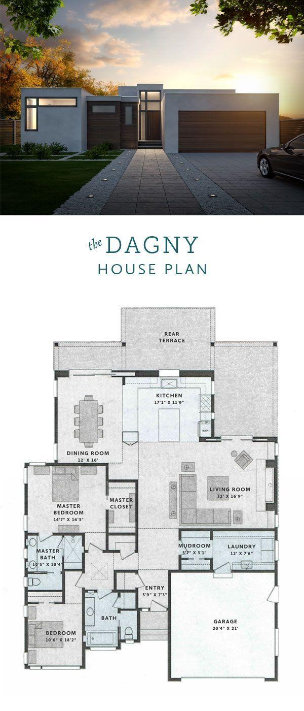 Dagny Modern House Plan 2 Bedrooms 2 Bathrooms 2400 Sq Ft House Plans Modern Bungalow House House Design