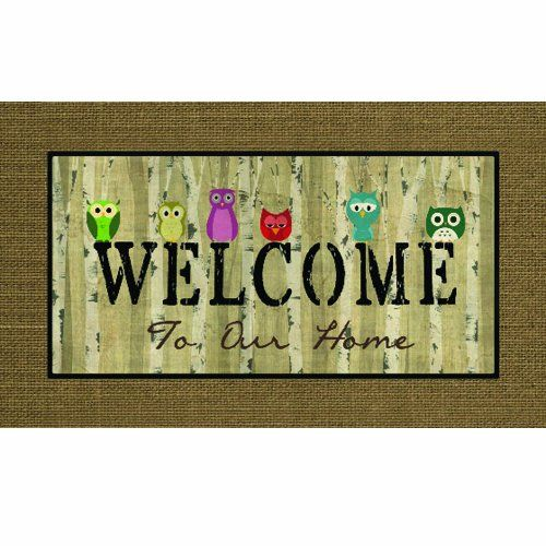Masterpiece 60-730-1851-18x30 Apache Mills Welcome Owls Door Mat, 18 by 30-Inch - List price: $28.00 Price: $23.42 Saving: $4.58 (16%)