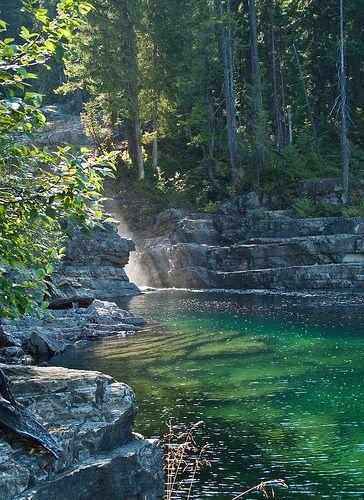 Myra falls at Buttle Lake, Strathcona Provincial Park.
