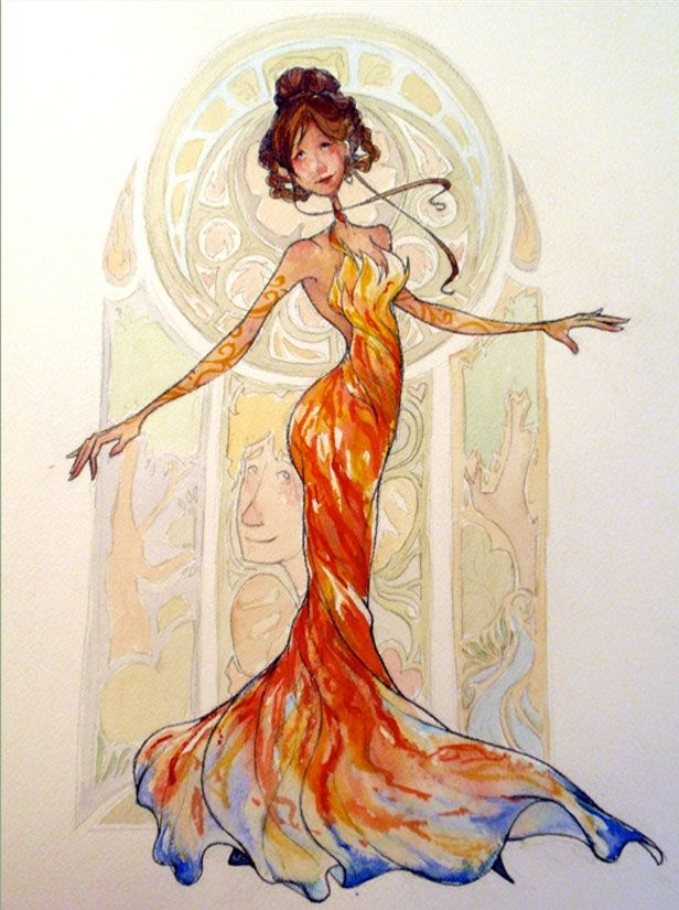 This lovely interpretation of Katniss's interview dress rivals the one seen in the film!
