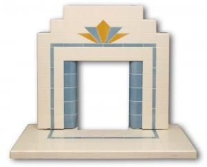 Craddock tiled Art Deco fireplace