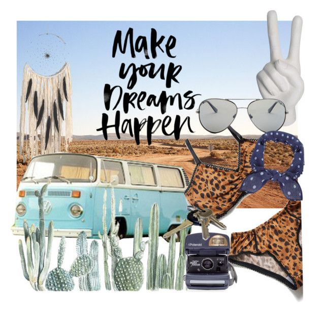 """""""Road trip dreamin"""" by neongypsynz on Polyvore featuring Spell & the Gypsy Collective, Kombi, Noir, Polaroid, Impossible and Humble Chic"""