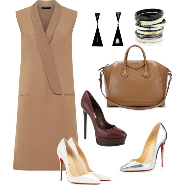 It's A Neutral Zone!!! by la-harrell-styling-co on Polyvore featuring polyvore fashion style Jaeger Christian Louboutin Casadei Givenchy L'Artisan Créateur