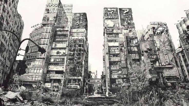 Hisaharu Motoda ARTWORKS city earthquake disaster