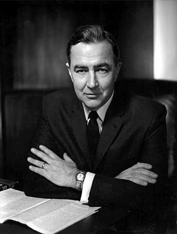 Eugene McCarthy -(March 29, 1916 – December 10, 2005, born in Watkins, MN) was an American politician, poet, and a long-time member of the United States Congress from Minnesota. He served in the U.S. House of Representatives from 1949 to 1959 and the U.S. Senate from 1959 to 1971.
