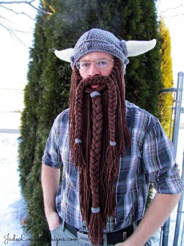 144e3e5223b Crochet Viking Hat With Beard Free Pattern Mythical