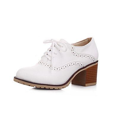 Chaussures Femme - Extérieure / Bureau & Travail / Décontracté - Rose / Blanc / Beige - Gros Talon - Confort / Bout Arrondi / Bout Fermé - de 3973538 2017 à €32.58