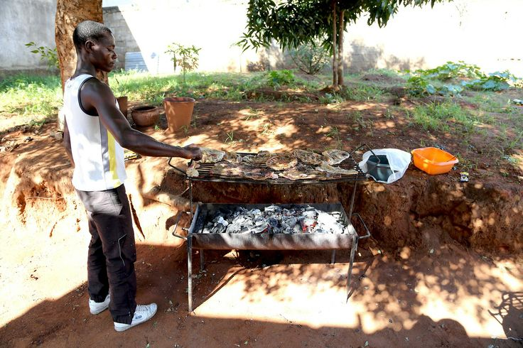 BBQ for breakfast - Maputo, Mozambique