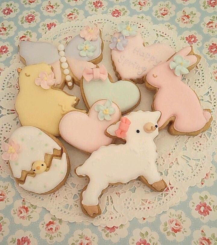 Cute cookies for Spring! Baby animals for a baby shower perhaps?! #babyshower #cookies #spring