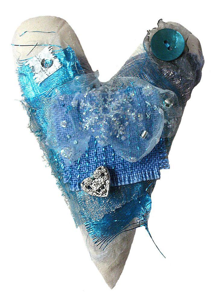 textile hearts - Caroline Saxby