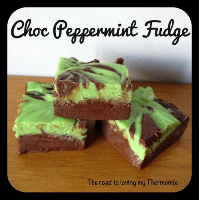 Choc Peppermint Fudge perfect for christmas