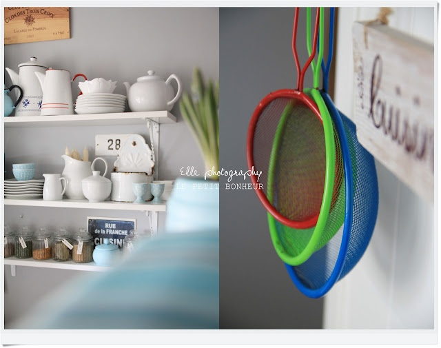 I want those colourful strainers!
